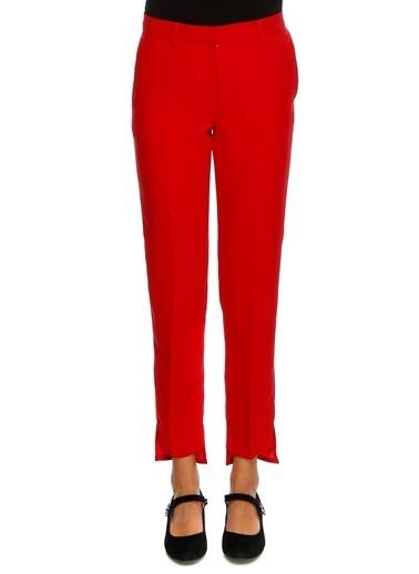 Beymen Studio Beymen Studio Paça Detaylı Pantolon Kırmızı